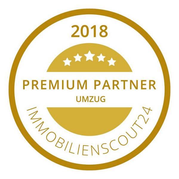 """Wir führen das Siegel """"Premium Partner Umzug 2018"""" von Immobilienscout24!"""